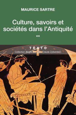 Culture, savoirs et sociétés dans l'Antiquité